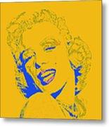 Marilyn Monroe 20130331v2 Square Metal Print