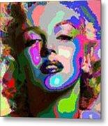 Marilyn Monroe - Abstract 1 Metal Print
