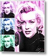 Marilyn Monroe Art Collage Metal Print