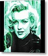 Marilyn Monroe - Green Metal Print