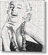 Marilyn Monroe In Mosaic Metal Print