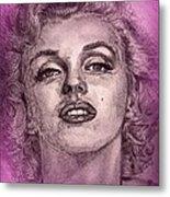 Marilyn Monroe In Pink Metal Print