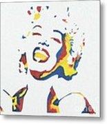 Marilyn Monroe Metal Print by Juan Molina