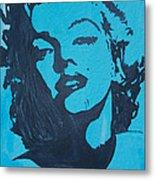 Marilyn Monroe Loves Batman Metal Print