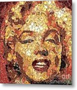 Marilyn Monroe On The Way Of Arcimboldo Metal Print