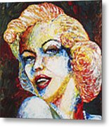 Marilyn Monroe Original Palette Knife Painting Metal Print
