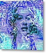 Marilyn Monroe Out Of The Blue Metal Print