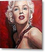 Marilyn Monroe - Red Metal Print