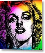 Marilyn Monroe Under Spotlights Metal Print