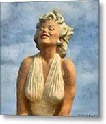 Marilyn Monroe Watercolor Metal Print