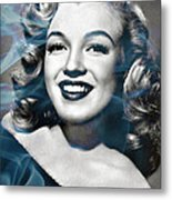 Marilyn On Fire Metal Print
