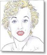 Marilyn Metal Print by Steven White