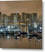 Marina Along Stanley Park In Vancouver Bc Metal Print