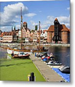 Marina And Old Town Of Gdansk Skyline Metal Print