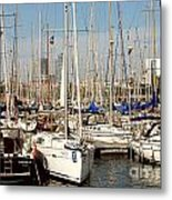 Marina At Port Vell Barcelona Metal Print