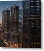Marina City And A M A Plaza Chicago Metal Print