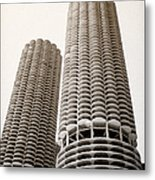 Marina City Chicago Metal Print by Julie Palencia