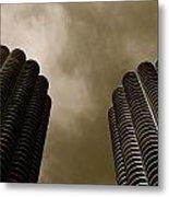 Marina City Towers Metal Print
