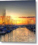 Marina Summer Sunset Metal Print
