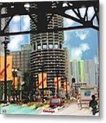 Marina Towers - Chicago Metal Print