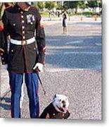 Marine And Bulldog Metal Print