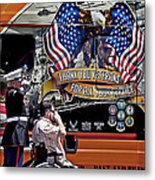Marine And Wounded Warrior Metal Print