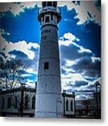 Marine City Michigan Lighthouse Metal Print
