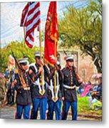 Marine Color Guard - Paint Metal Print