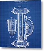 Marine Lifebuoy Patent From 1894 - Blueprint Metal Print
