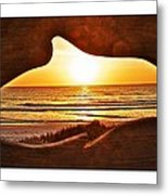 Marineland's Sunrise Dolphin Metal Print
