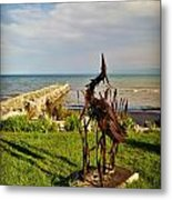 Marineres Trail Between Manitowoc And Two Rivers Wi Metal Print