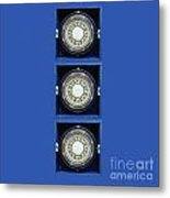 Mariners Compass Blue Metal Print