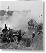 Marines Launch Rockets Toward Japanese Metal Print
