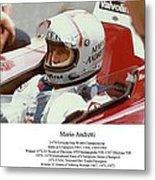 Mario Andretti Metal Print