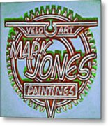 Mark Jones Velo Art Painting Blue Metal Print by Mark Howard Jones