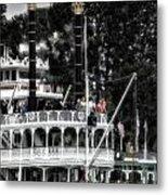 Mark Twain Riverboat Frontierland Disneyland Vertical Sc Metal Print