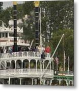 Mark Twain Riverboat Frontierland Disneyland Vertical Metal Print
