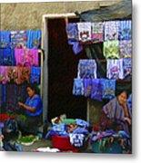 Market At Santiago Atitlan Guatemala Metal Print