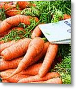 Market Carrots By Diana Sainz Metal Print