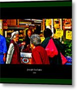 Market Day In Chinatown  Metal Print