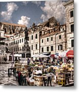 Market Day In The White City Metal Print