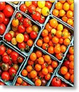 Market Fresh Tomatos Metal Print