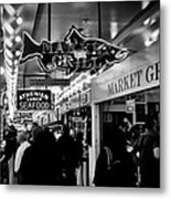 Market Grill In Pike Place Market Metal Print