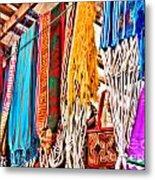 Market Hammocks In El Casco By Diana Sainz Metal Print