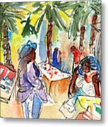 Market In Teguise In Lanzarote 03 Metal Print