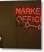 Market Office To The Right Metal Print