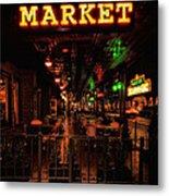 Market On Houston Metal Print