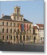 Market Place Weimar - Unesco Heritage Site Metal Print