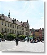 Market Place Wroclaw Metal Print