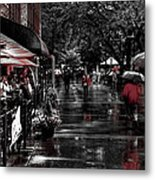Market Square Shoppers - Knoxville Tennessee Metal Print
